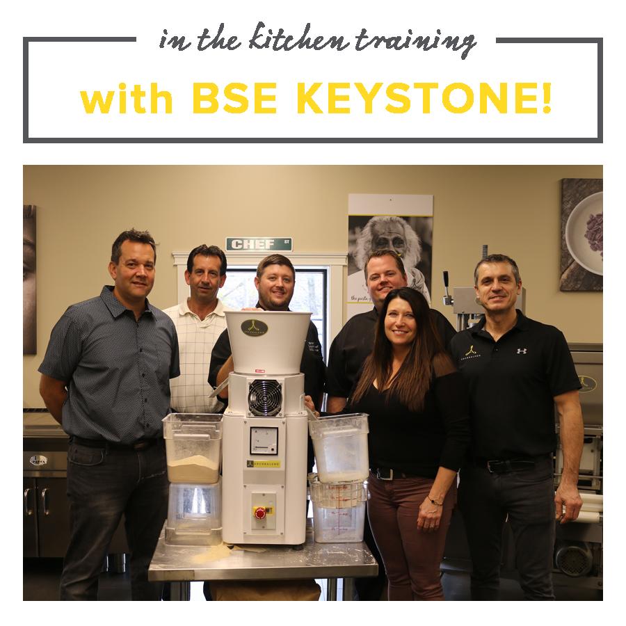 BSE Keystone, Flour Mill, Pasta Extruder, Pasta Cooker, Ravioli, Cappeletti, Pasta Machine, Arcobaleno